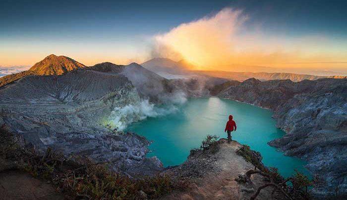 یکی از زیباترین آتشفشان ها، عکس