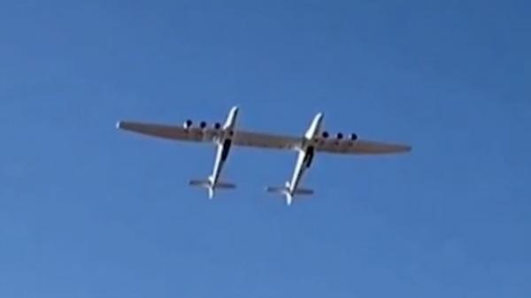 لحظه پرواز موفقیت آمیز بزرگ ترین هواپیمای جهان